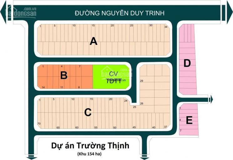 Mặt tiền Nguyễn Duy Trinh dự án Trường Thịnh 154 ha, dt 125m giá 75 tr, đường 12m giá 44 tr/m