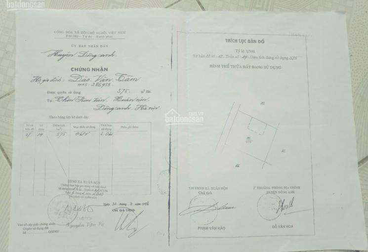 Tiếp tục mở bán 8 lô đất đẹp vuông vức chỉ với 380 triệu/lô thôn Kim Tiên - Xuân Nộn