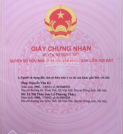 950 triệu 48m2 đất thổ cư ô tô vào tận đất tại xã Vân Nội, huyện Đông Anh, TP Hà Nội