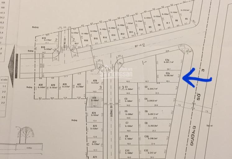 Bán đất đường Số 34 khu trần não gần cầu Thủ Thiêm 195.6m2 220 triệu/m2 nền C2. Tel 0909.972.783