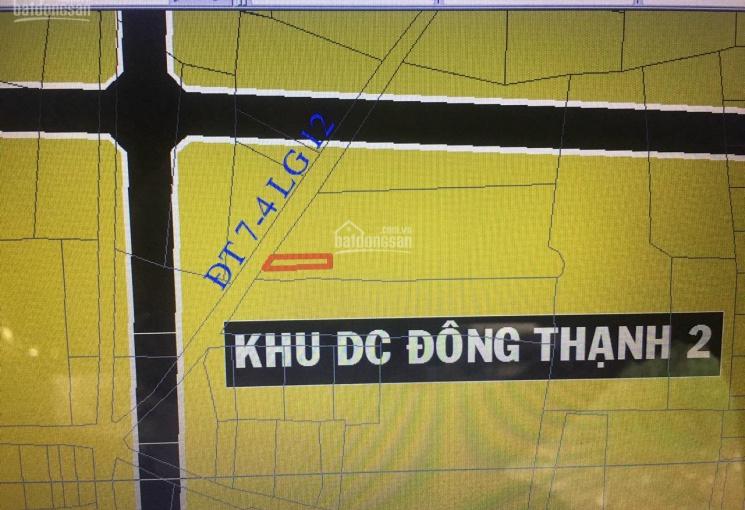 Bán đất mặt tiền đường nhựa Đông Thạnh 7 - 4, Hóc Môn, giá 2 tỷ 50tr, SHR, đường thông
