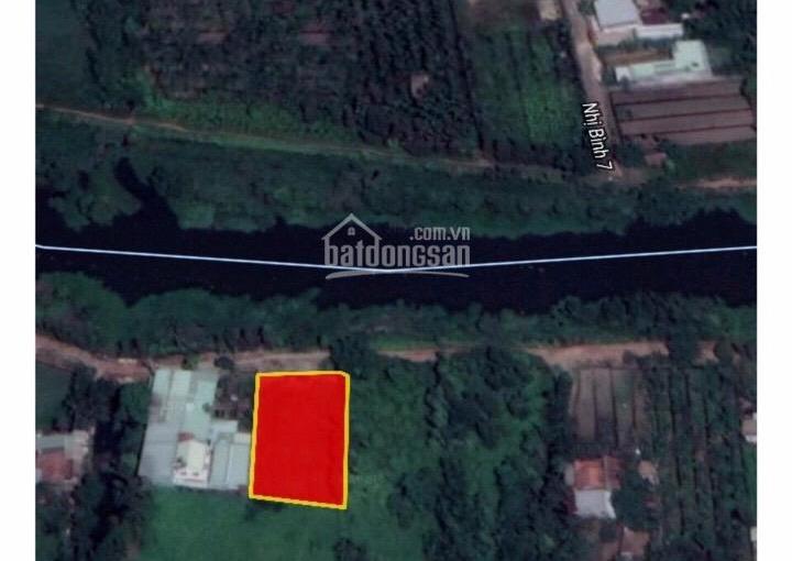 Bán đất mặt tiền sông Bà Hồng, xã Nhị Bình, Hóc Môn, DT 27x41m, đất vườn giá 7 tỷ