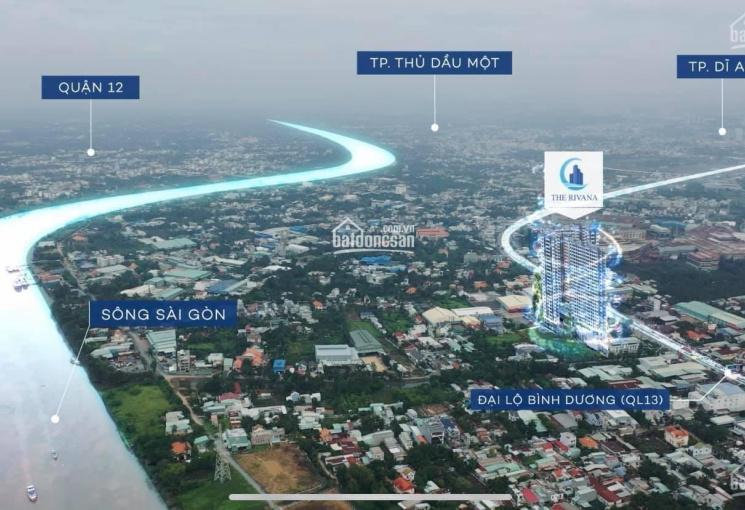 Dự án The Rivana Bình Dương mặt tiền QL 13, liền kề TP Thủ Đức, 3 mặt view sông SG. Giá đầu tư F0