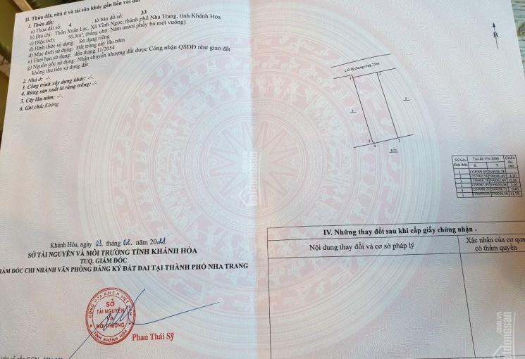 Bán đất: Sau ủy ban Vĩnh Ngọc cách chợ 300m