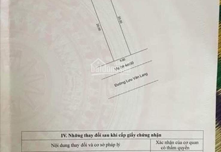 Chính chủ cần bán lô đất mặt tiền đường Lưu Văn Lang. Bãi tắm Sơn Thuỷ, LH 0901303234