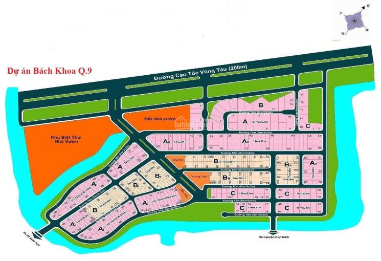 Bán lô đất biệt thự dự án Bách Khoa, Quận 9, giá 47 triệu/m2, mặt tiền sông, sổ đỏ chính chủ