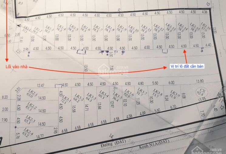 Chính chủ bán đất đấu giá phường Yên Nghĩa, Hà Đông, 58,5m2, hai mặt thoáng, sổ đỏ, ô tô vào nhà