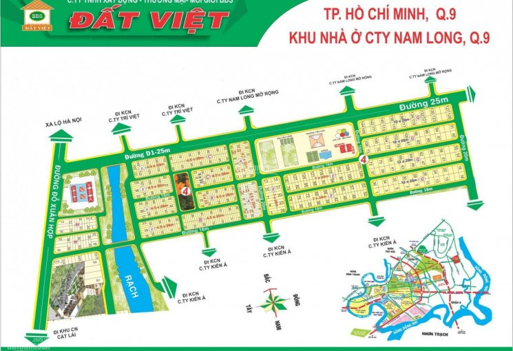 Đất nền khu Nam Long, Phước Long B, Quận 9, dự án sổ đỏ chính chủ cần bán