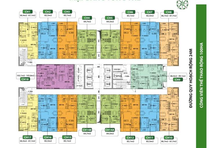 Bán căn hộ 83m2 thiết kế được 3PN - Sắp bàn giao tại Phú Thịnh Green Park, Lh: 0906.998.933