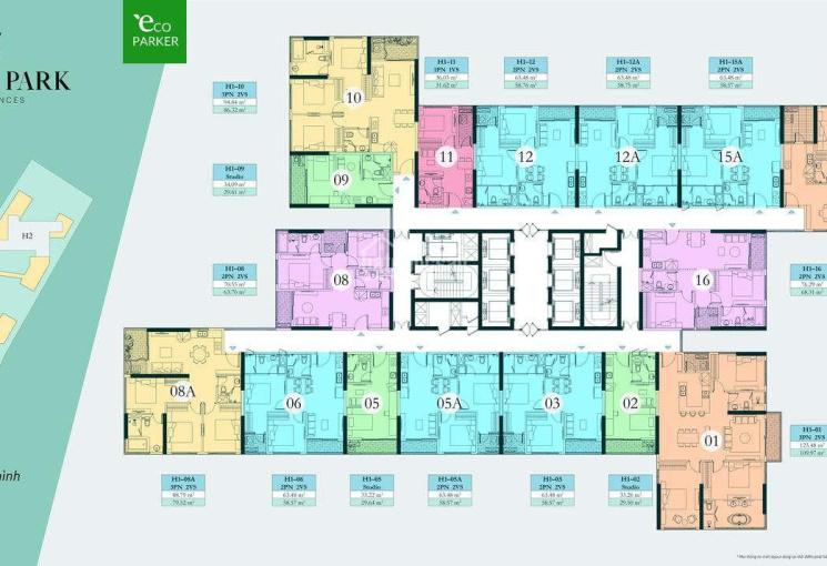 Cần gấp vốn kinh doanh nên em cắt lỗ nhượng lại căn 3PN, 2VS view 270độ tòa Haven Park, 0869096993