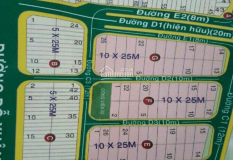 Bán nền biệt thự KDC Hoàng Anh Minh Tuấn, TP Thủ Đức, DT: 10x25m, giá 78tr/m2, trục chính dự án