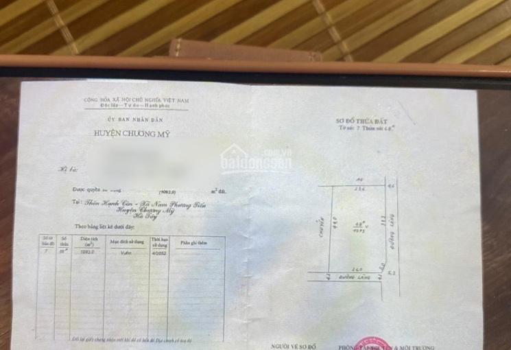 Cần tiền bán gấp em lô góc 1093 m2 tại thôn Hạnh Côn Xã Nam Phương Tiến, Huyện Chương Mỹ, Tp Hà Nội