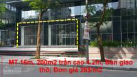 Cho thuê tầng 1 trung tâm thương mại chung cư golden west số 2 lê văn thiêm. dt 200m2 mặt tiền: 16m
