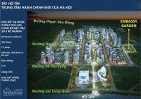 Bán suất ngoại giao mặt đường 60m dự án embassy garden tây hồ tây, giá tốt nhất -(0975974318)