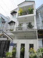 Nhà phố 4 tấm 4x25m = 105m2, dtsd 270m2, 1 trệt, 3 lầu, 4pn, 5wc nguyễn oanh nằm biệt thự nam long