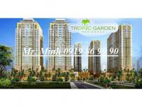Chủ nhà cần cho thuê gấp căn hộ tropic garden, view sông, 14tr/tháng, lh 091986 9990