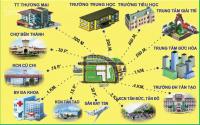 Bidv thanh lý đất ở đô thị tt đức hòa, 339 triệu/nền, sổ hồng riêng