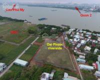 Bán đất ven sông nhà bè, cát lái quận 2, chỉ 750tr/100m2 đất thổ cư 0918611399