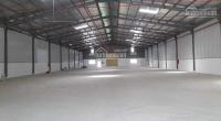 Cho thuê kho xưởng mới xây dựng xong dt: 1200m2 giá 60tr/tháng