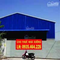 Cho thuê nhà xưởng giá rẻ q.12 dt: 2500m2, giá 95tr/tháng. lh: 0935 464 228