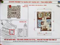 Bán gấp căn hộ 2 phòng ngủ, diện tích 53.5 m2, tầng 38 - ct12c - khu đô thị kim văn kim lũ