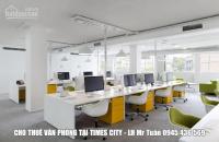 cho thuê văn phòng tại times city ưu tiên cư dân