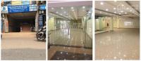 cho thuê nhà 120 phố đê la thành 230m2 5t mặt tiền 7m thang máy hầm xe đi riêng thông sàn