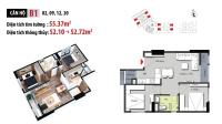 chính chủ cần bán chung cư hateco xuân phương 2 phòng ngủ diện tích 5272m2