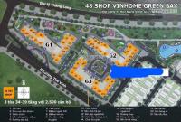 Tổng hợp các căn Shop chân đế cần cho thuê của Vinhomes Greenbay mới nhất LH 0917462689