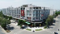 nhà shophouse xây 6 tầng 2 mặt tiền ngang 7x22m cho thuê 100tr tháng trong kđt 198ha vạn phúc city