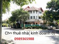Cho Thuê Nhà Biệt Thự Khu ĐT Mới Sài Đồng Long Biên HN dt260m2x4t giá 35tr LH: 0989365988