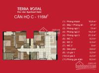 BÁN CĂN 3PN - 112M2 DỰ ÁN TERRA ROYAL, VIEW MẶT TIỀN NAM KỲ KHỞI NGHĨA LH: 0935252738