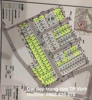 Bán đất đẹp Đông Nam phường Đông Vĩnh TP Vinh: Giá từ 2 tỷ, sổ lâu dài - LH: 0968420275