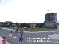 Bán đất trung tâm TP Vinh: Hướng Đông Nam, giá 14 triệum2 - LH: 0968420275