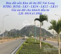 Bán Đất nền Khu đô thị hồ Núi Long, phường Đông Vệ, tp Thanh Hóa LH: 0919658986