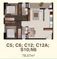 cần bán lại ch sài gòn mia có 2pn rộng 78m2 là căn nằm ngay góc giá 33 tỷ lh 0773901588