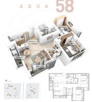 Tìm căn 2PN, ban công ĐN tầng trung, giá rẻ nhất thị trường các toà khu Aquabay Sky Residences