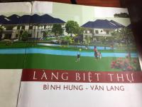 chính chủ cần sang đất biệt thự song lập khu làng biệt thự bình hưng văn lang lh 0908812579