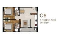 cần bán căn hộ sài gòn mia mặt tiền 9a dt 78m2 vào ở ngay lh 0938595337