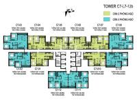 bán căn 2 phòng ngủ toà c6 c7 giá 3 tỷ 70 77m2 thiết kế 2 phòng ngủ dự án vinhomes dcapitale