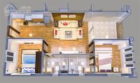 Cho thuê căn hộ tầng 1 Chung Cư Hoàng Huy, DT 63m2 giá 5 triệu LH 0934 313 875