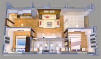 Cho thuê căn hộ Chung cư Hoàng Huy Tầng 1, Loại 2 ngủ DT 63m2 LH 0934 313 875