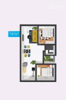 cần bán gấp căn hộ topaz home 2 cách quốc lộ 200m 47m2 2pn giá 950 tr lh 0907383727
