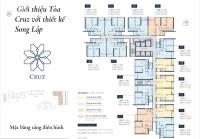 feliz en vista 3 phòng ngủ dt 106m2 căn số 06 tòa cruz tầng cao giá 56 tỷ lh 0931356879