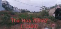 bán đất thái hòa 705m2 12x60m đường nhựa 7m xây biệt thự kho nhà xưởng ok hết