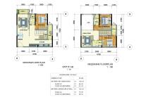 cần cho thuê căn hộ 2 pn 2wc block b khu emerald nhà mới nhận có nội thất cơ bản
