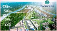 biệt thự 15x15m khu đại đô thị waterpoint 355ha bao bọc bởi dòng sông vàm cỏ đông trãi dài 58km