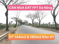 Cần mua đất khu V1 tại khu đô thị FPT City Đà Nẵng với diện tích 144m2 và 180m2