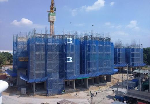 Dự án đã hoàn thành xong phần thô tầng 6 của Block A1 và A2