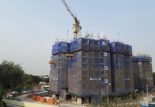 Dự án đã hoàn thành xong phần thô tầng 10 của Block A1 và A2